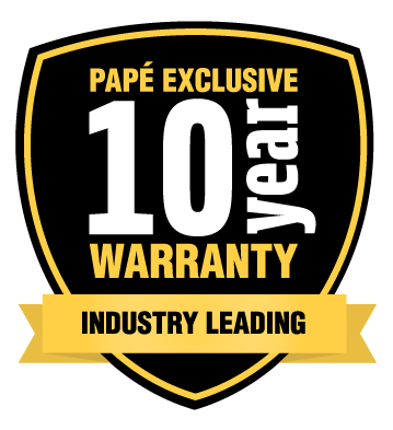Papé Exclusive 10-Year Warranty